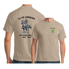 2d Cavalry Old Bill T-shirt Sand