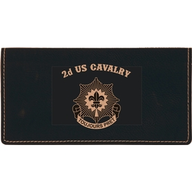 Check book cover with 2d Cavalry Unit Crest