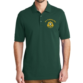EZ Cotton Polo with Embroidered Unit Crest