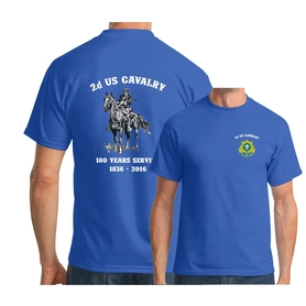2d Cavalry Old Bill T-shirt Blue